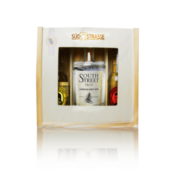 Gin Tonic Geschenkset mit Southstreet No.1 Thomas Henry Tonic Water und Spicy Ginger ale