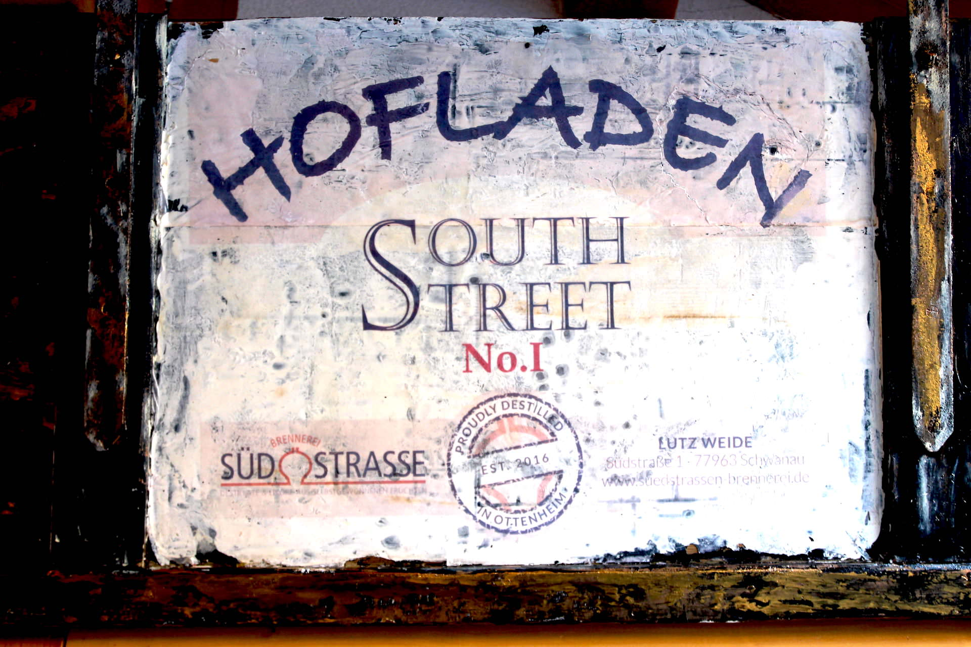 Ladenverkauf im Hofladen Southstreet Gin Ottenheim