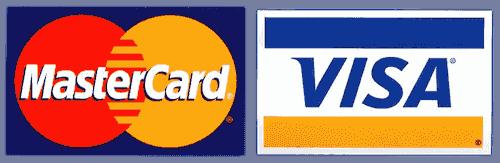 Zahlung mit Kreditkarte Visa MasterCard